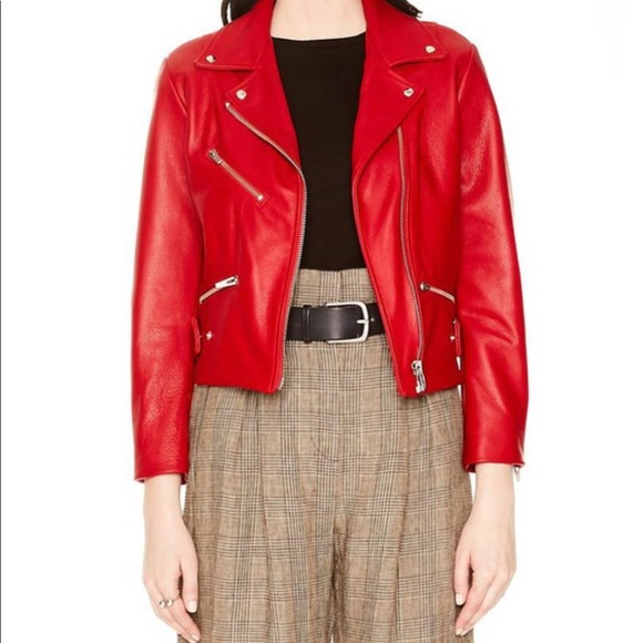 Veda Jackets & Blazers - Veda Red Grand Leather Jacket
